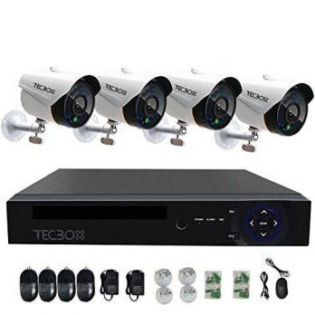 [macyskorea] TECBOX 4CH AHD 720P DVR Security Camera System with 4 HD 1280TVL Outdoor CCTV/15776224