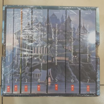 Novel Import Harry Potter Fullset Bahasa Inggris 1-7 . J K Rowling