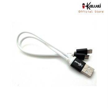 Ikawai Solid 2in1 Kabel Data & charge 30cm - Iphone / lightning & Microusb