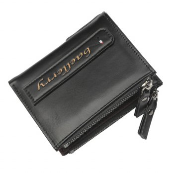 Baellerry Dompet Pria Model Short Vertical - D3208 - Black