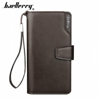 Baellerry Dompet Pria Model Panjang - S171B - Brown/Silver
