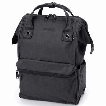 Anello Tas Ransel Kanvas Frosted - Small - Black