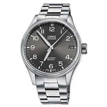[macyskorea] Oris Big Crown ProPilot 41MM Grey Face Automatic Stainless Steel Bracelet Dat/15779763