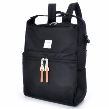 Anello Tas Ransel Selempang 2 Way - Black
