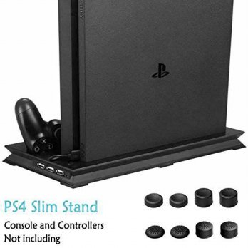 [macyskorea] ADVcer PS4 Slim Vertical Stand with Dual Cooling Fan, Controller Charging Sta/15778047