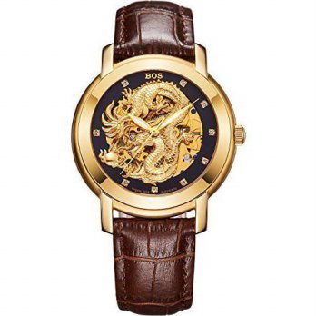[macyskorea] BOS Mens Dragon Collection Luxury Carved Dial Automatic Mechanical Calfskin W/15779411
