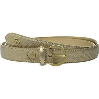[macyskorea] Lacoste Womens Premium Chantaco Coated Leather Belt Gold Belt 39 in (Euro 100/15181947