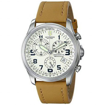 [macyskorea] Victorinox Mens 241579 Infantry Stainless Steel Watch with Beige Leather Band/15778729