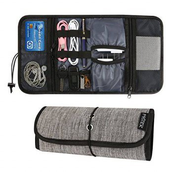 [macyskorea] Travel Gear Organizer, PriTek Roll-up Hard Drive Bags Small Carrying Case for/15772039