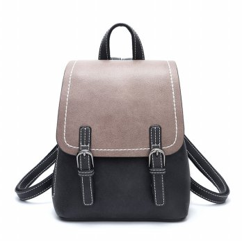 Doodoo Tas Ransel Wanita Model Vintage Retro Backpack - Black