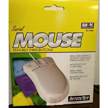 [macyskorea] InterAct Serial Mouse 3 Buttons IBM/PC Compatible SV-708A New/16208484