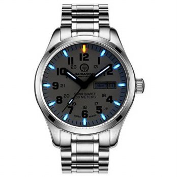 [macyskorea] PASOY Mens Luminous Blue Tritium Watch Stainless Steel Swim Date Sapphire Gla/15781682