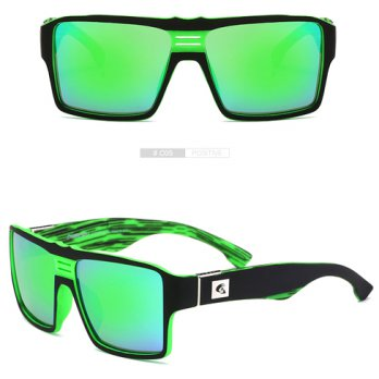DUBERY Kacamata Pria Retro Polarized Sunglasses - Y729 - Green