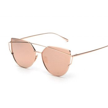 HDCRAFTER Kacamata Wanita Cat Eye Polarized Sunglasses Vintage - Golden/Pink