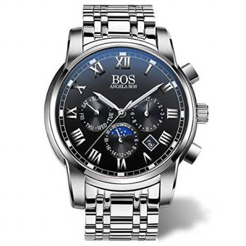 [macyskorea] Angela BOS BOS Mens Quartz Analog Wrist Watch Chronograph Stainless Steel Ban/15812182