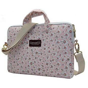 [macyskorea] Canvaslove Pink Chrysanthemum Pattern Canvas Laptop Shoulder Messenger Bag Ca/14125901