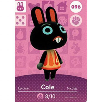 [macyskorea] Nintendo Animal Crossing Happy Home Designer Amiibo Card Cole 096/100/15800425
