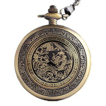 [macyskorea] REATR Retro Pocket Watch Dragon & Phoenix Quartz Watch with Gift Box for Chri/15863549