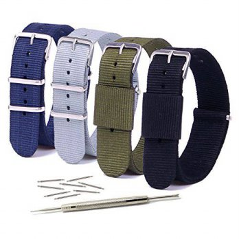[macyskorea] Vetoo 20mm Watch Bands,Nato Nylon Replacement Watch Strap with Metal Buckle f/15864013