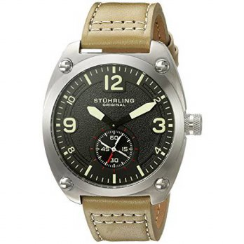[macyskorea] Stuhrling Original Mens Quartz Stainless Steel and Leather Casual Watch, Colo/15865497
