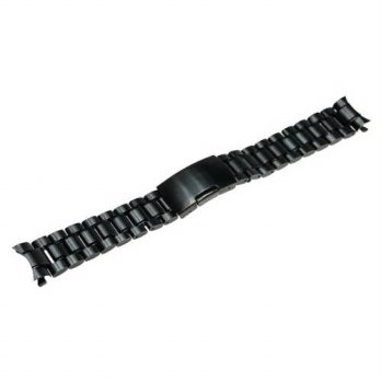 [macyskorea] RECHERE Stainless Steel Bracelet Watch Band Strap Curved End Solid Links Colo/15864984