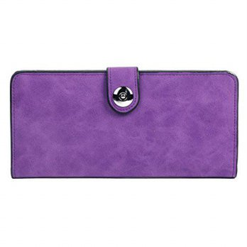 [macyskorea] Damara Womens Simple Suede Magnet Thin Wallet,Purple/13755993