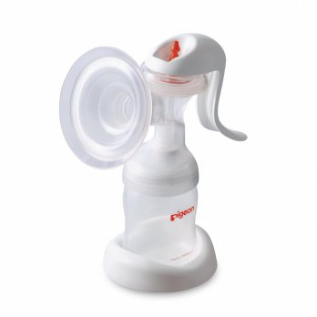 PIGEON MANUAL BREAST PUMP NEW EDITION/ POMPA ASI MANUAL .
