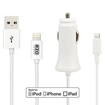 [macyskorea] MFI Certified EZOPower 3 Feet Lightning Cable + 2.4A Lightning Car Charger Fo/15840300