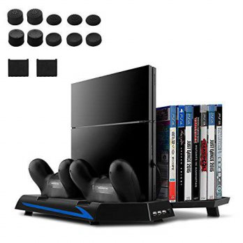[macyskorea] [Upgraded Version] Younik PS4 Vertical Stand Cooling Fan, Dual Controllers Ch/15778487