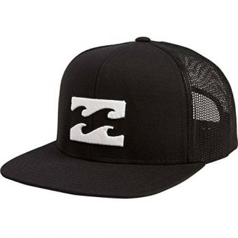 [macyskorea] Billabong Mens All Day Adjustable Snapback Trucker Hat, Black/White, One Size/14727666