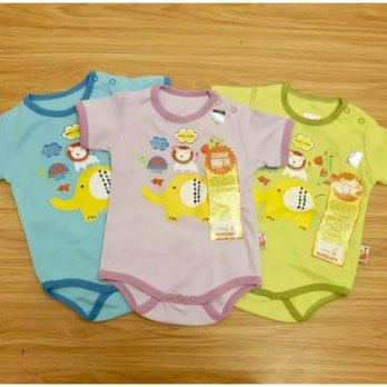 (Pakaian Bayi Unisex) 3 pcs Jumper Smart Wear Segiempat Velvet 3in1