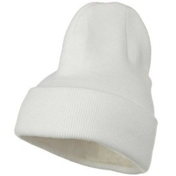 [macyskorea] Artex Big Stretch Plain Cuff Long Beanie - White/13975519