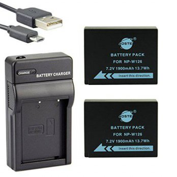 [macyskorea] DSTE NP-W126 Li-ion Battery (2-Pack) and Micro USB Charger Suit for Fuji Fine/15655126