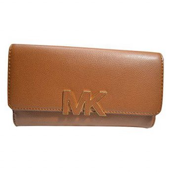 [macyskorea] Michael Kors Florence Large Leather Billfold Wallet (Luggage)/13978113