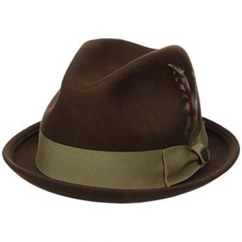 [macyskorea] Brixton Mens Gain Fedora Hat, Light Brown, Large/15293256