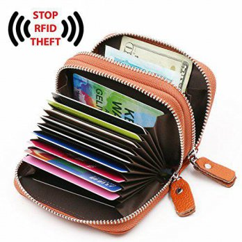 [macyskorea] RFID Genuine Leather Credit Card Wallet for Women Brown Bagtrip KB81/15293910