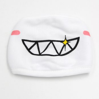 Masker Emoji Lucu Anti Polusi Udara - Model 3 - White