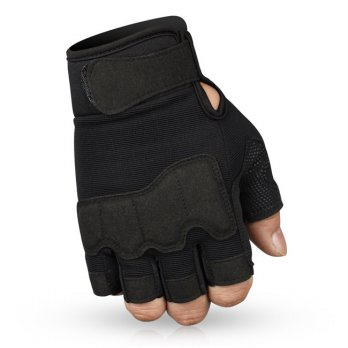 Sarung Tangan Tactical Half Finger Size XL - Black