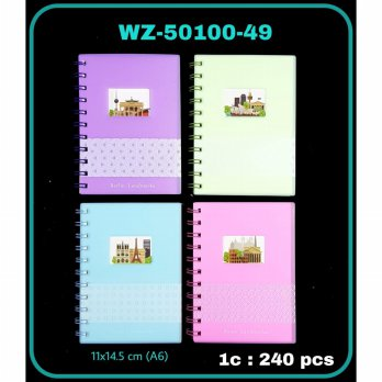 BUKU RING MIKA KECIL A6 WARNA-I COUNTRY LANDMARKS 50100-49
