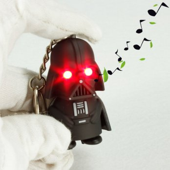 Gantungan Kunci Sound LED Model Darth Vader Stormtrooper Star Wars - Black