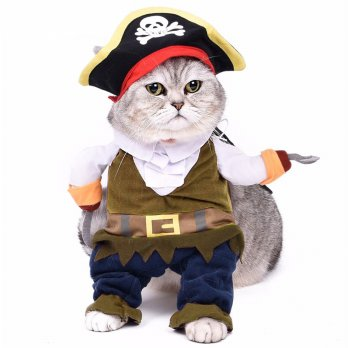 Baju Kucing Cat Funny Halloween Cosplay Size L - Brown