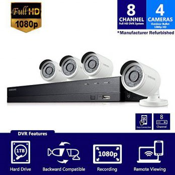 [macyskorea] Hanwha SDH-B74041 - Samsung 8 Channel 1080p HD 1TB Security Camera System wit/15774035