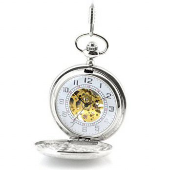 [macyskorea] WZC Vintage Silver Smooth Case Mechanical Pocket Watch/15780935