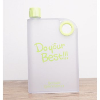 Memobottle Botol Minum Flat 380ml - Green