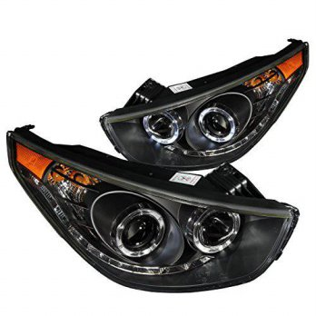 [macyskorea] AnzoUSA 111260 Black/Clear/Amber Halogen Projector Headlight for Hyundai Tucs/14241423
