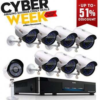 [macyskorea] ELEC 8CH 960H HDMI DVR 1200TVL Security Cameras, 8 Channel Surveillance Secur/15773721