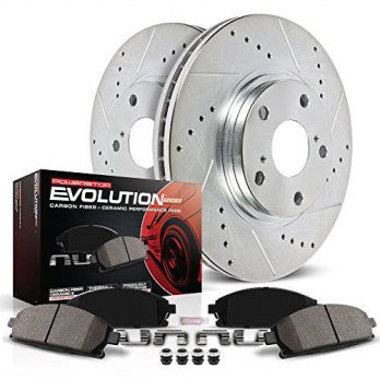 [macyskorea] Power Stop K497 Front Ceramic Brake Pad and Cross Drilled/Slotted Combo Rotor/14241118
