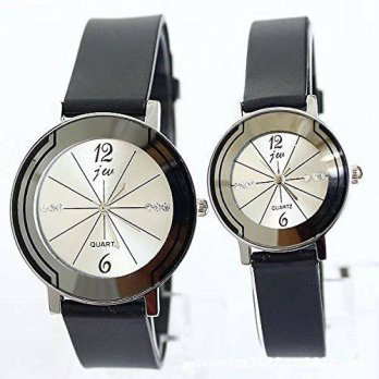 [macyskorea] JW Couple Watches with Crystal Decor Quartz Wristwatches for Lovers Pair in P/15780576