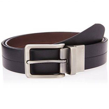 [macyskorea] Fossil Mens Brandon Reversible Belt, Black, 42/13957635