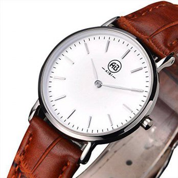 [macyskorea] AIBI Womens Simple Design Silver Ultra Thin Sport Casual Watch with Brown Lea/15780305